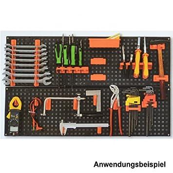 593 Werkzeugwand 26-teilig Lochwand Werkstattwand Hakensortiment Kunststoff