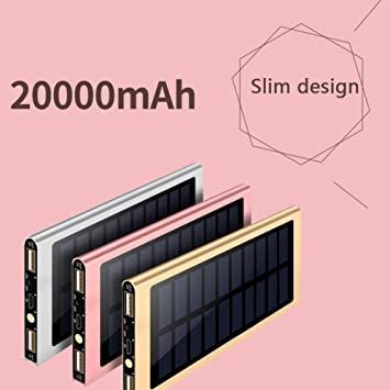 TYZDY Mobile Power Solar Ultra-Thin Mobile Phone Universal ...