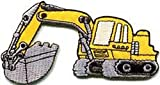 Spinner Excavator backhoe tractor loader trackhoe bulldozer applique iron-on patch #676 Better Bag Cloth Tee Shirt