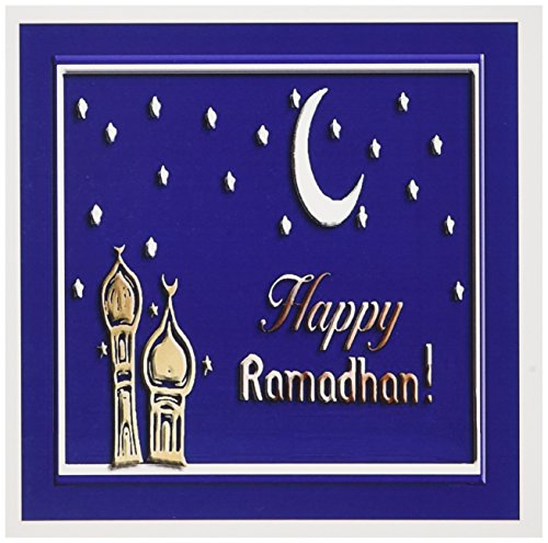 3dRose Ramadan Temples with Blue Sky Stars and Moon - Greeting Cards, 6 x 6 inches, set of 12 (gc_22458_2)