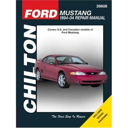 mustangs auto amazon com ford mustang 1994 through 2004 updated to include 1999 through 2004 models chilton s