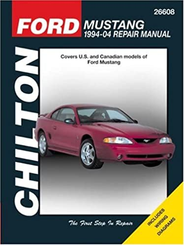 ford mustang 1994 through 2004 updated to include 1999 through rh amazon com 2003 Mustang Repair Manual PDF 2001 Ford Mustang Coupe Red