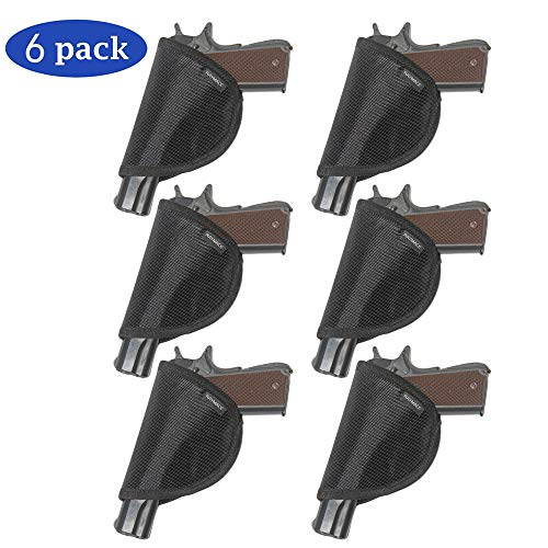 Raymace Pistol Holster with Melt Adhesive Gun Safe Accessories Handgun Holster Storage Solution Mounts Inside Safe Door (6 Pack)