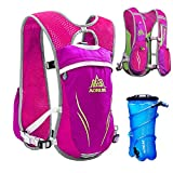 TRIWONDER Hydration Pack Backpack 5.5L Outdoors Mochilas Trail Marathoner Running Race Hydration Vest (Rose Red - with 2L TPU Water Bladder)