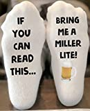 If You Can Read This Bring Me a Miller Light Novelty Funky Crew Socks Men Women Christmas Gifts Slipper Socks