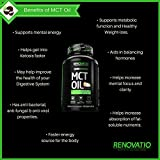 MCT Oil from 100% Organic Coconuts (180 Softgels of 1,000mg) Primal Octane Fuel for Your Brain. Promotes Focus, Mental Endurance & Weight Loss.* Perfect for Keto & Paleo Non-GMO