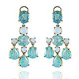 Womens Modern Chandelier Earrings, Swarovski Crystal Teardrop Designer Ladies Jewelry