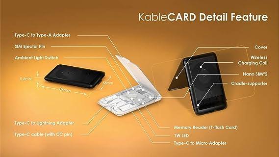 Kablecard Color Black Musikinstrumente