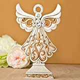 15 Magnificent Antique Design Angel Statue in Ivory and Matte Gold