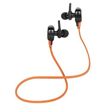 Mini Auriculares Inalambricos Bluetooth Demiawaking L3 Auricular Inalámbrico Bluetooth Estéreo Auriculares Auriculares De Deportes (Naranja