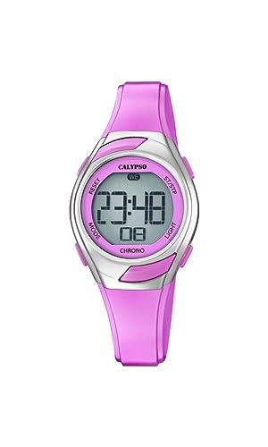Calypso Reloj Digital para Mujer de Cuarzo con Correa en Plástico K5738/2: Amazon.es: Relojes