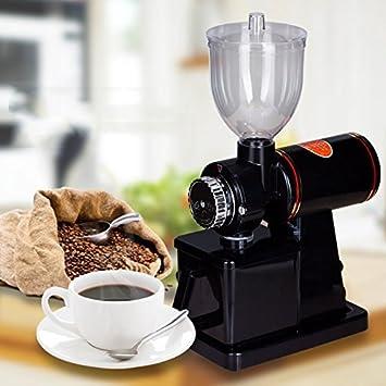 YaeTek Automatic 110V Electric Burr Coffee Grinder Mill Grinder Coffee Bean Powder Grinding Machine Black