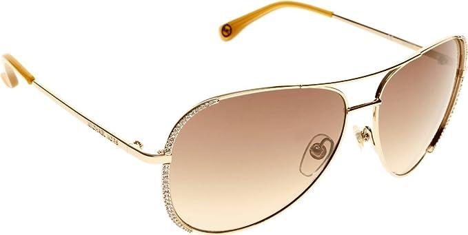 e156f256621c Michael Kors M2062S-717 Ladies M2062S Sadie Light Brown Gold Sunglasses