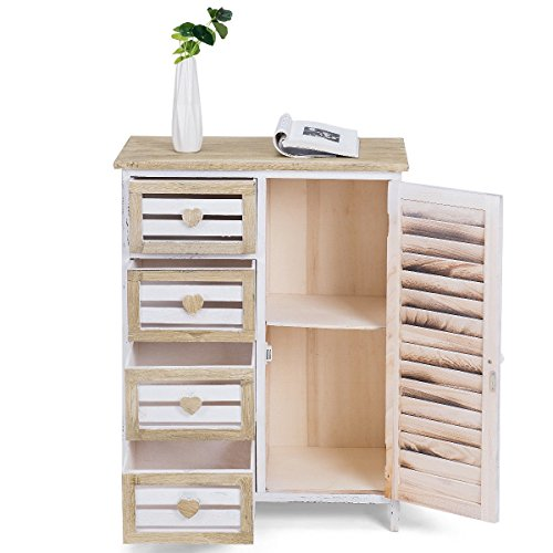 4 Bin-Type Drawers Wooden Free Standing Storage Cabinet Bin Type Drawers Home CHOOSEandBUY