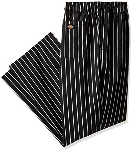 Dickies Chef Traditional Baggy Pant, Stripe Black/White, XXX-Large ()