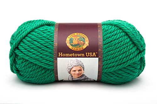 Lion Brand Yarn 135-130K Hometown USA Yarn, Green - Usa Bays