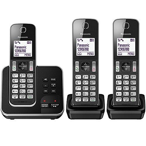 Panasonic KX-TGD323EB Cordless Home Phone with Nuisance Call Blocker and...