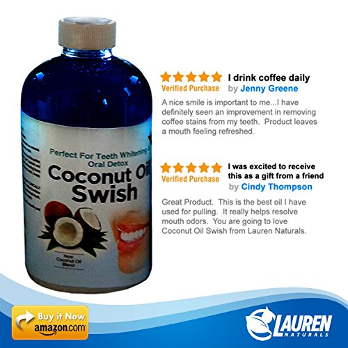 photo Wallpaper of Lauren Naturals-Coconut Oil Pulling And Mouthwash: Excellent For Teeth Whitening, Dry-