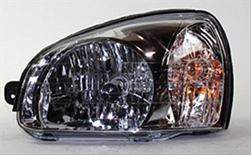 OE Replacement Headlight Assembly HYUNDAI SANTA FE 2003-2006 Partslink HY2502134 Multiple Manufacturers HY2502134N