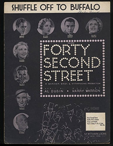Shuffle Off to Buffalo sheet music 1932 from Forty Second Street ()