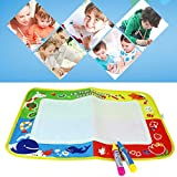 Gbell Water Drawing Painting Writing Mat Aqua Board Blanket Magic Water Draw Board Pen Doodle Toy Gift 46 x 30CM for Kids Children Toddler Baby (Multicolor)