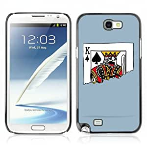 Designer Depo Hard Protection Case for Samsung Galaxy Note 2 N7100 / King of Spades