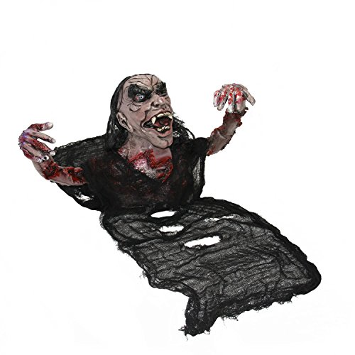 Professional Halloween Decorations (Halloween Haunters Groundbreaker Crawling Scary Zombie Torso Graveyard Prop Decoration - Thick Rubber Latex Bloody Mangled Dead Man)