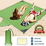 WELTEAYO Beach Blanket, Portable Lightweight Waterproof Sandproof Pocket Picnic Blanket - 140cm x 210cm Large Picnic Mat and for Outdoor Travel Camping Hiking Activities