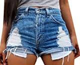YYear Womens Distressed Ripped Hole Denim Jeans Shorts Pants Hot Mini Shorts one US S