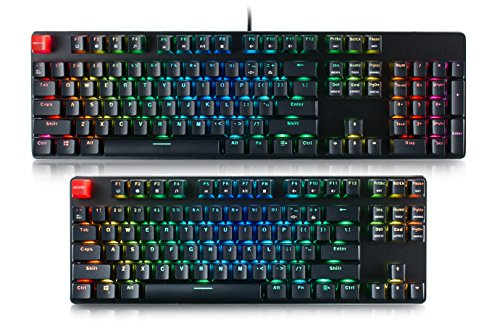 Glorious Modular Mechanical Gaming Keyboard – Full Size (104 Key) – RGB LED Backlit, Brown Switches, Hot Swap Switches (Black)(GMMK-BRN)