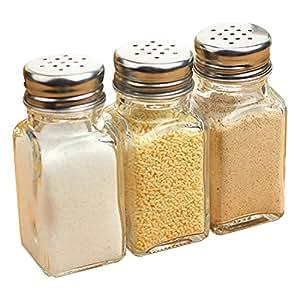 PNBB 3.5 Ounces Glass Pepper Shaker Set Of 3