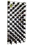 Black Metal Lattice Wine Rack for 152 Bottles