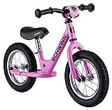 Schwinn Toddler Balance Bike, 12-Inch Wheels, Beginner Rider Training, Pink