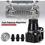 PQYRACING Universal Fuel Pressure Regulator + Gauge + AN6 Fitting 30-70psi