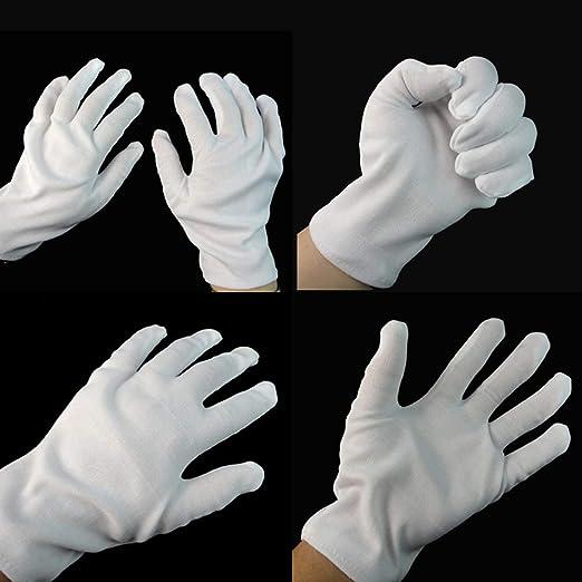 Oyria - Guantes Cortos de algodón, Color Blanco: Amazon.es: Hogar