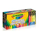 Crayola Sidewalk Chalk Sticks, Washable, Outdoor, Gifts for Kids, 64 Count, Outdoor Activities, Washable, Bright, Colourful, Craft Supplies, Gift for Boys and Girls, Kids, Ages 3,4, 5, 6 and Up, Arts and Crafts, Summer Travel, Cottage, Camping, on-the-go, Back to school, School supplies, Gifting