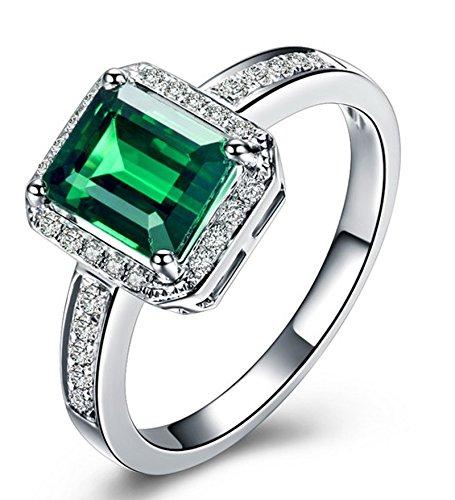 14k White Emerald - 9