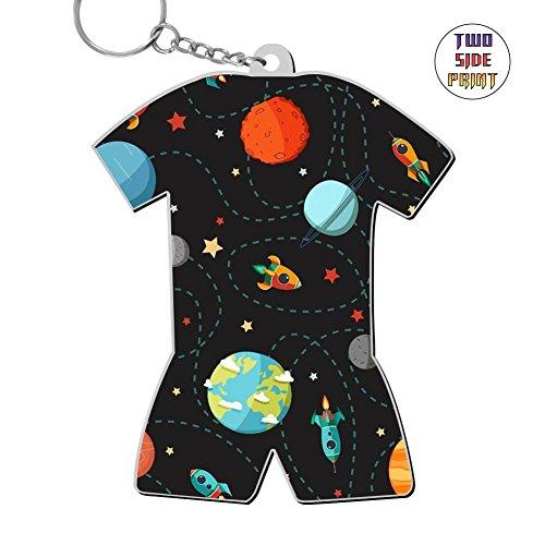 okkeyring Zinc Alloy Car Business Key Chain,Print Planet,Best Gift for Friends Boys Girls