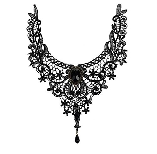 For Rent National Costumes (Fariishta Jewelry Fashion Black Lace Collars Necklace)