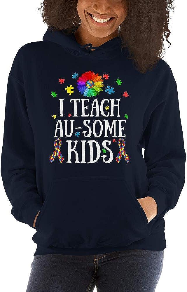 TEEPOMY Autism Teacher I Teach Au-Some Kids Unisex Hoodie
