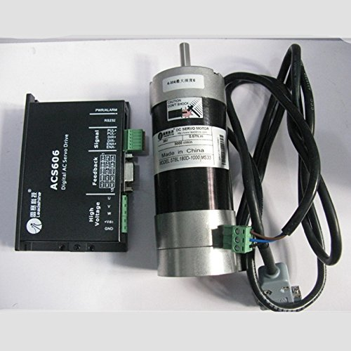 Leadshine 180W Brushless Servo DC Motor+Drive Kits 57BL180D-1000+ACS606 Brushless Controller 36V Circular Flange 82ozin 0.57NM by TOAUTO
