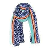 Toaimy Soft Scarf,Women'S Leopard Pattern Fold Striped Cotton And Linen Scarf
