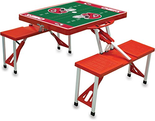 NFL Kansas City Chiefs Football Field Design Portable Folding Table/Seats, Red ()