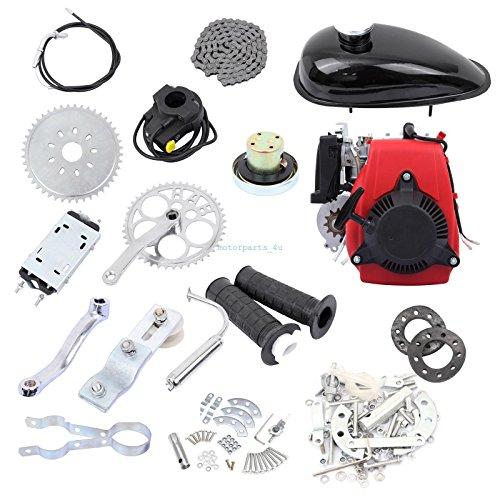 DIY 4-Stroke 49CC Gas Petrol Motorized Bicycle Engine Motor Kit Scooter Black
