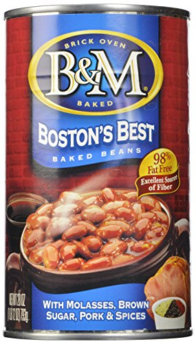 B & M Baked Beans, Boston's Best, 28 Ounce (Pack of 12)