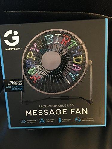 Programmable LED Message Fan
