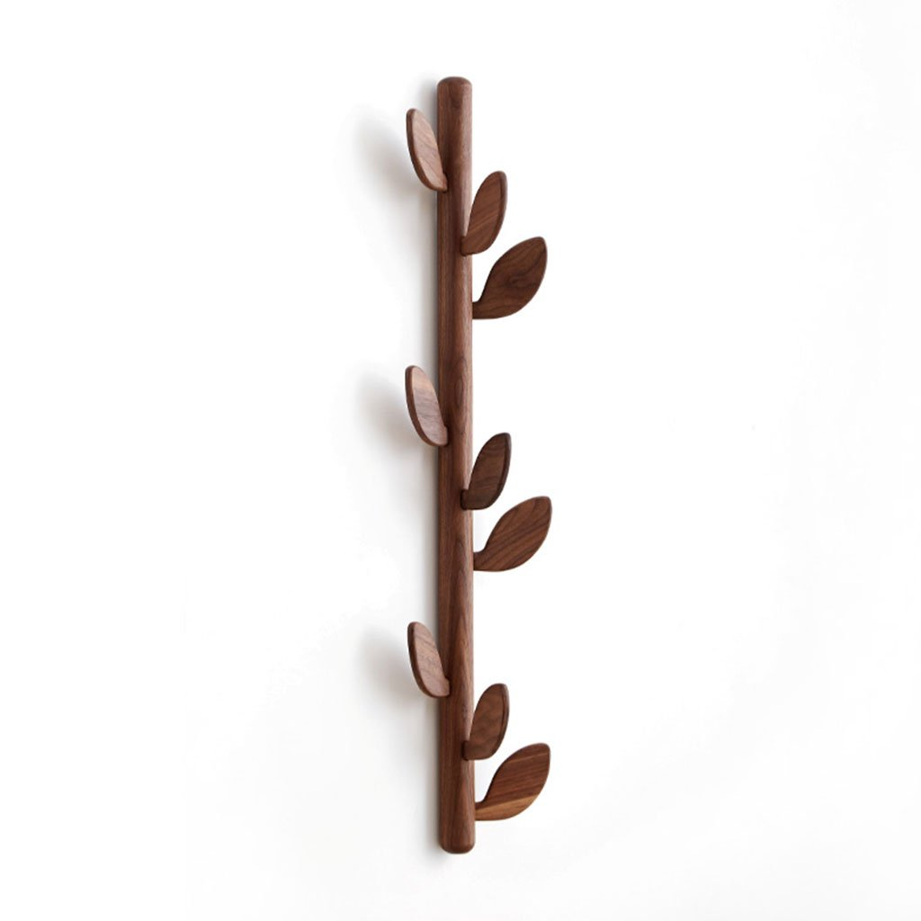 BROWN DDSS Coat rack Creative Coat Rack Living Room Simple Wall Hanging Wooden Hanger Foyer Entrance Nordic Hanging Wall Coat Hooks  -  (color   Brown)