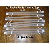 "11"" Flexible Straws for Jumbo Mugs (10)"