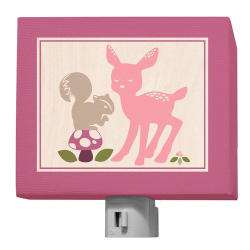 Oopsy Daisy Enchanted Forest Night Light, Best Friends, 5'' x 4''