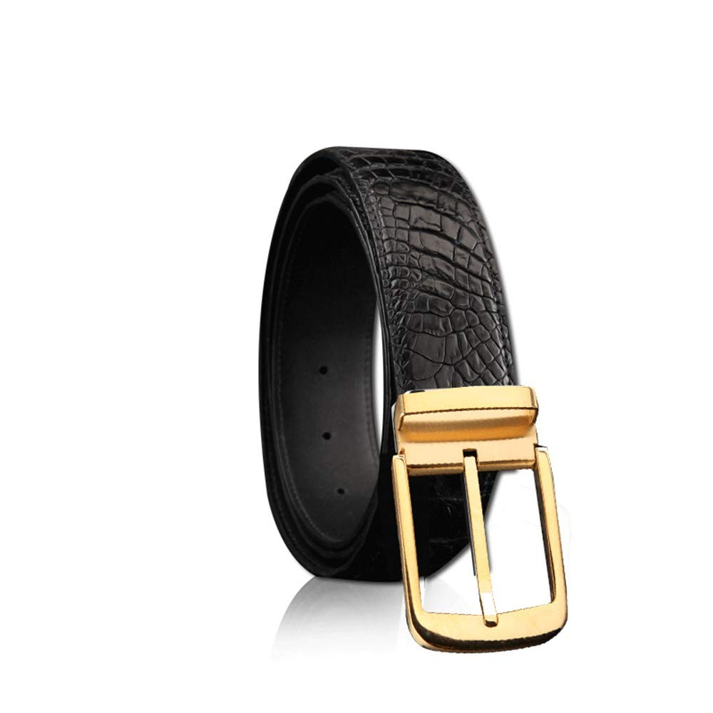HYLIUP Mens Belt Classic Design Belt Youth Youth Simple Wild Mens Belt Stainless Steel pin Buckle Leather Belt